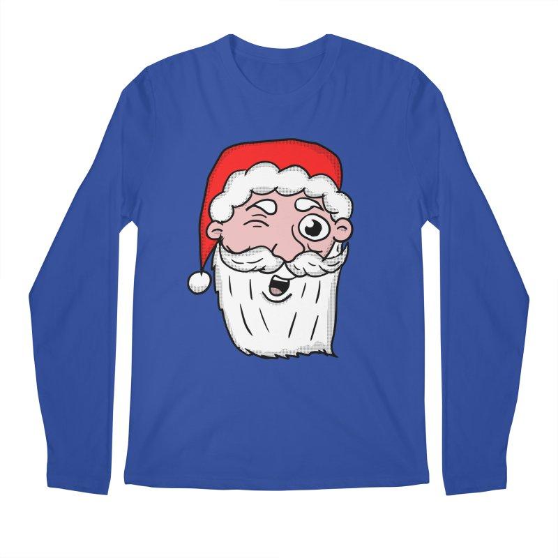 Winking Santa Men's Regular Longsleeve T-Shirt by ericallen's Artist Shop
