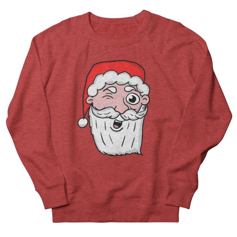 Winking Santa Women's French Terry Sweatshirt by ericallen's Artist Shop