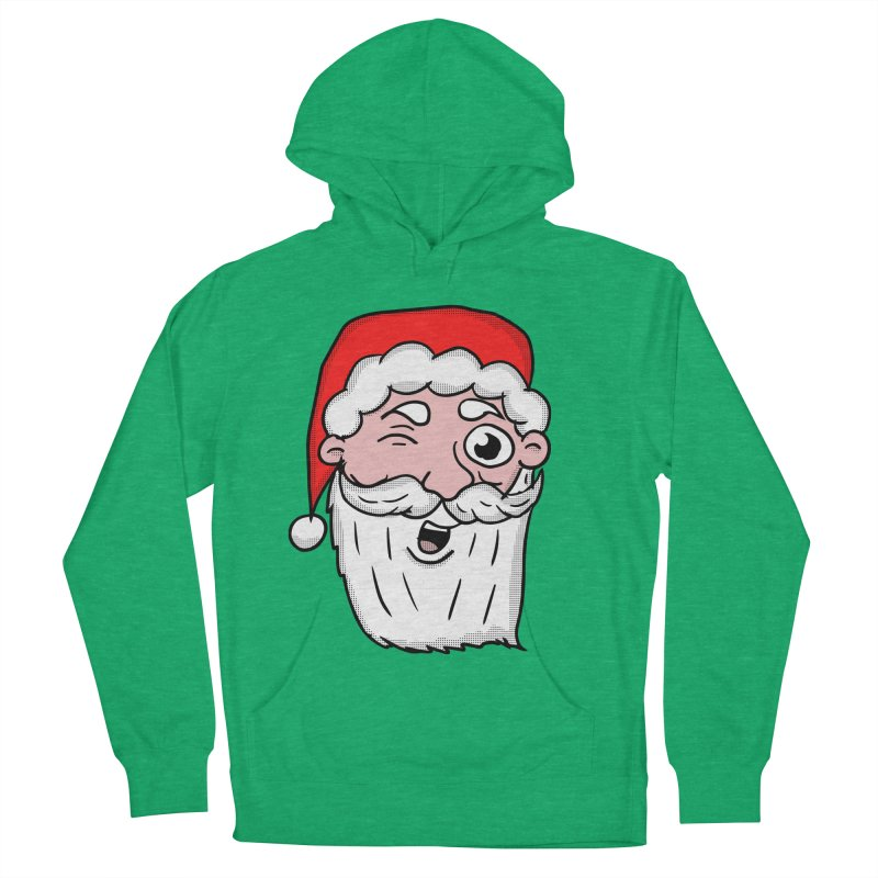 Winking Santa Women's French Terry Pullover Hoody by ericallen's Artist Shop