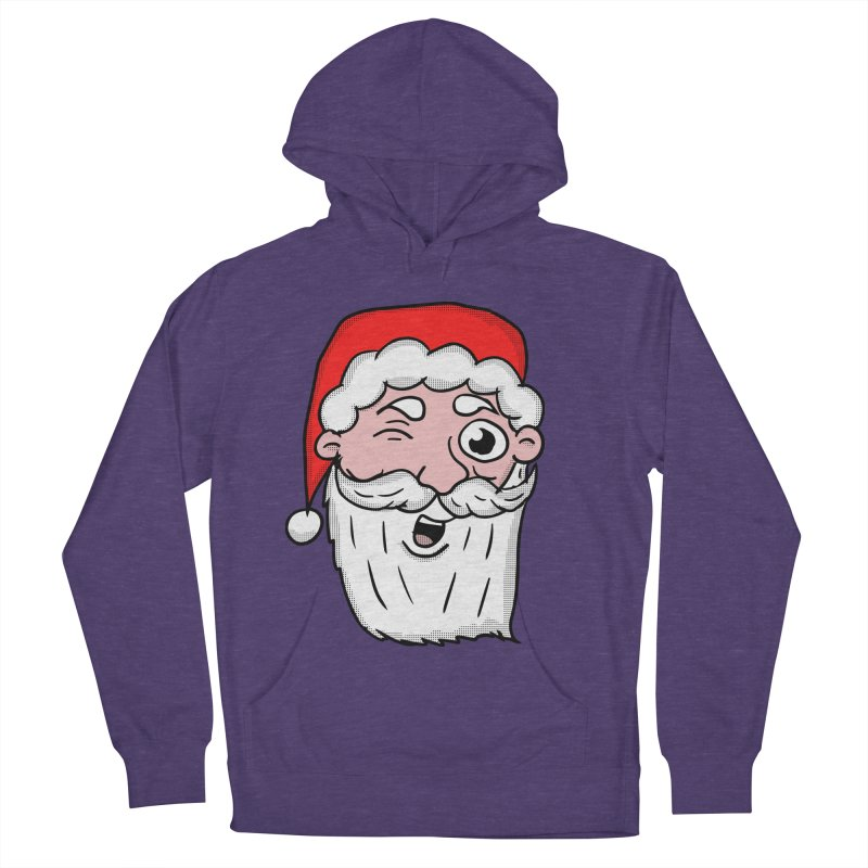 Winking Santa Men's French Terry Pullover Hoody by ericallen's Artist Shop