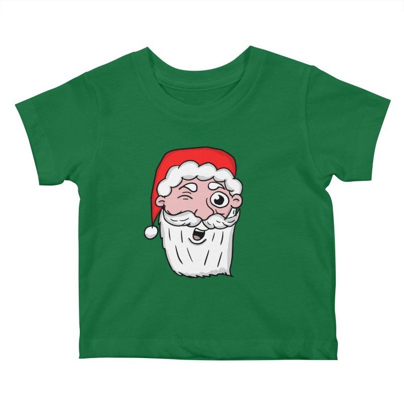Winking Santa Kids Baby T-Shirt by ericallen's Artist Shop