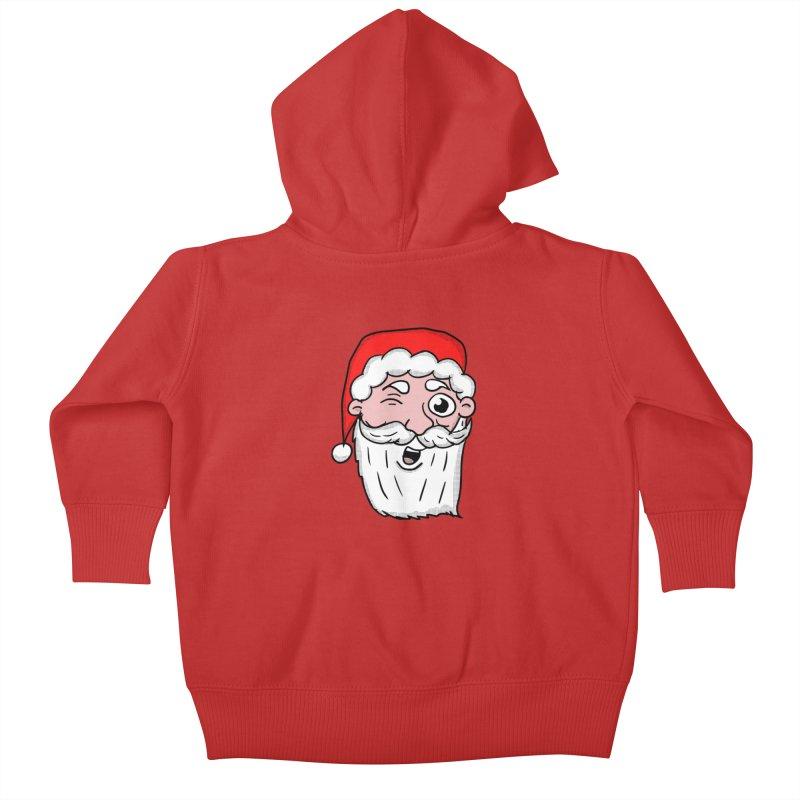 Winking Santa Kids Baby Zip-Up Hoody by ericallen's Artist Shop