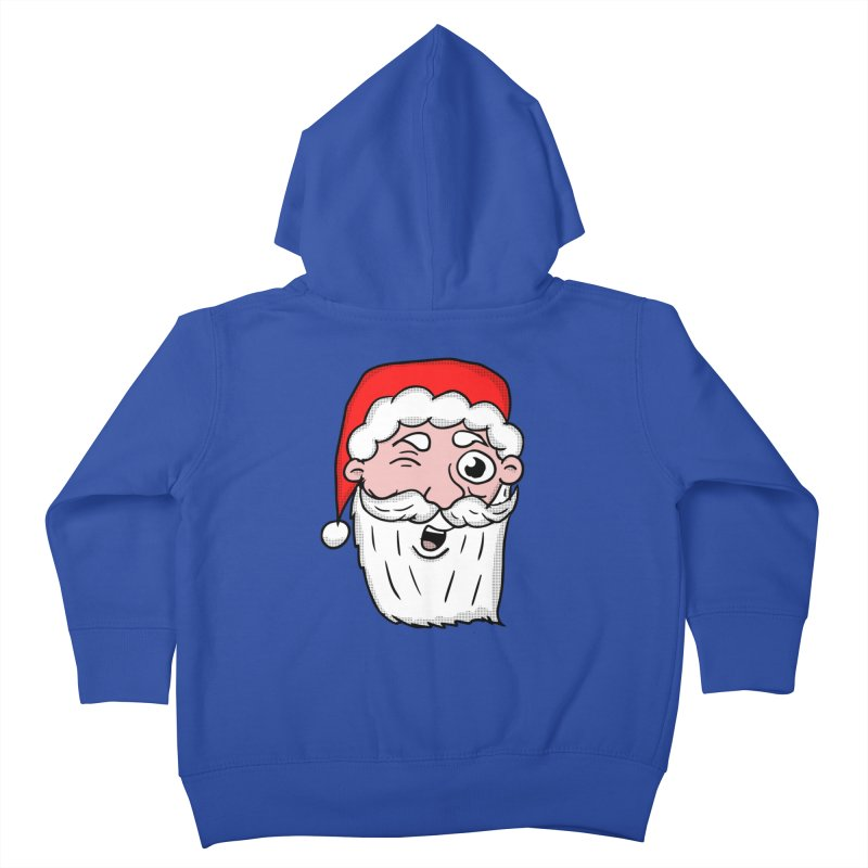 Winking Santa Kids Toddler Zip-Up Hoody by ericallen's Artist Shop