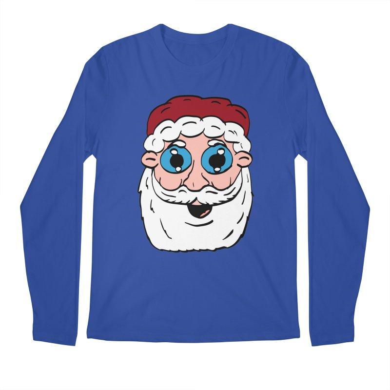 Cartoon Santa Head Men's Regular Longsleeve T-Shirt by ericallen's Artist Shop