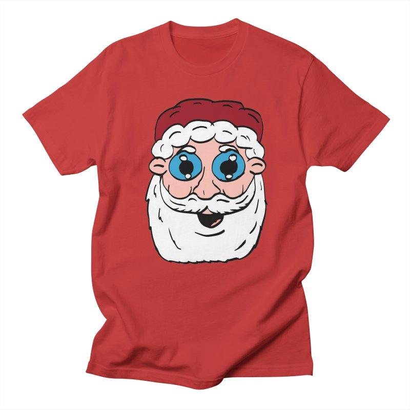 Cartoon Santa Head Women's Regular Unisex T-Shirt by ericallen's Artist Shop