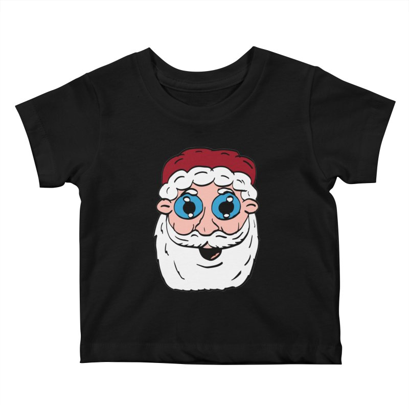 Cartoon Santa Head Kids Baby T-Shirt by ericallen's Artist Shop