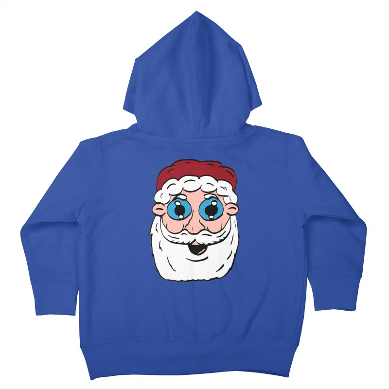 Cartoon Santa Head Kids Toddler Zip-Up Hoody by ericallen's Artist Shop
