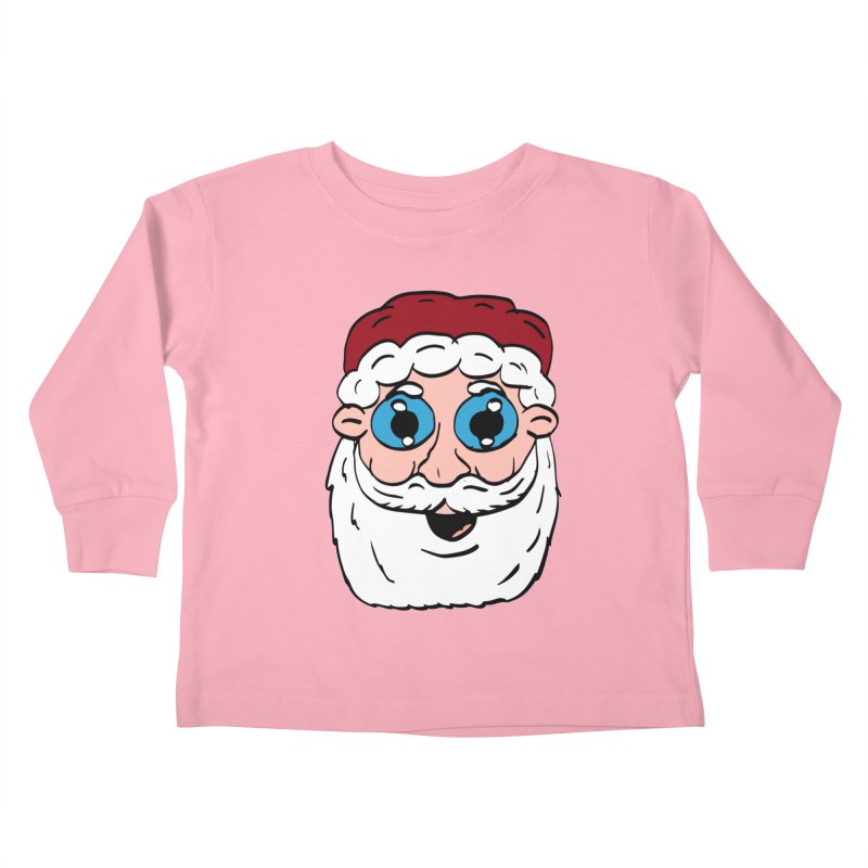 Cartoon Santa Head Kids Toddler Longsleeve T-Shirt by ericallen's Artist Shop