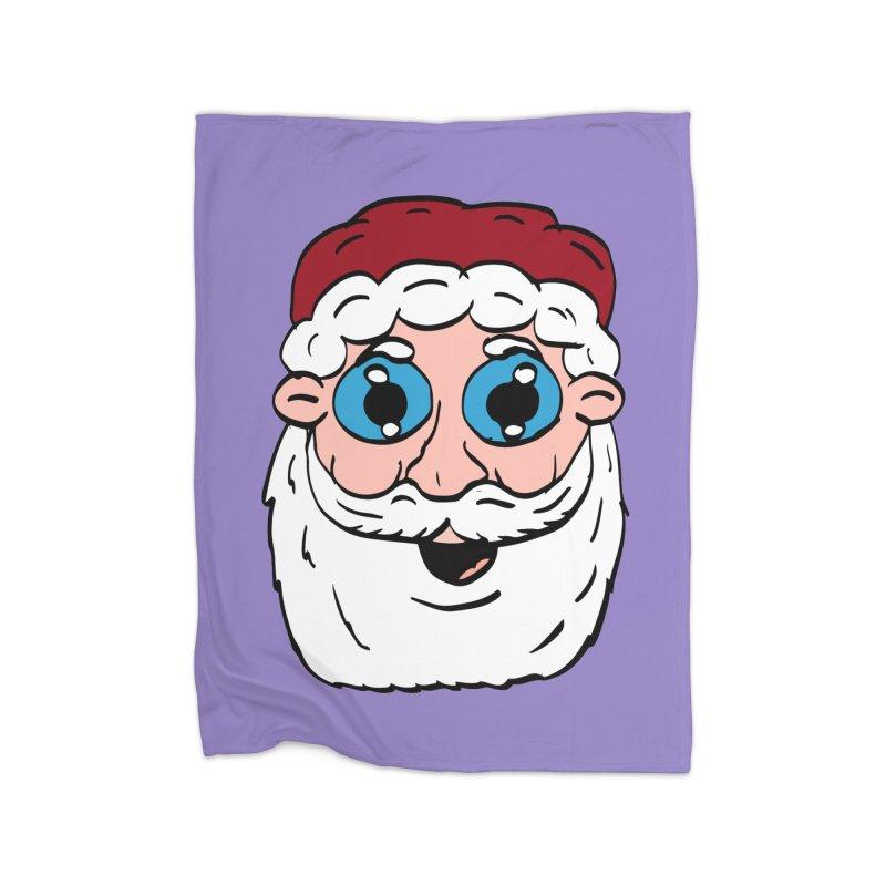 Cartoon Santa Head Home Blanket by ericallen's Artist Shop