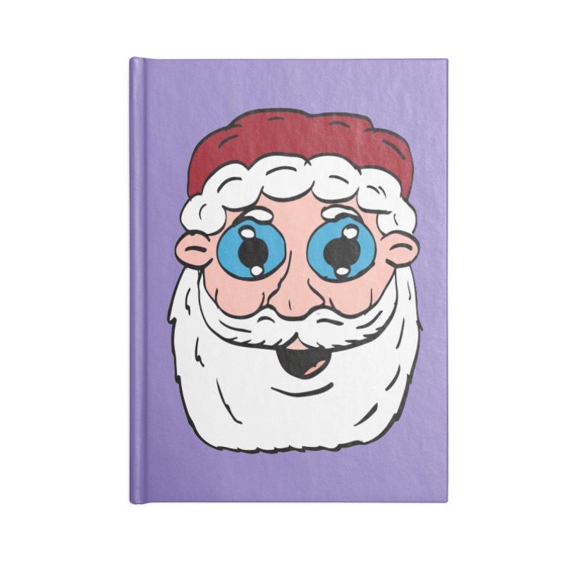 Cartoon Santa Head Accessories Notebook by ericallen's Artist Shop