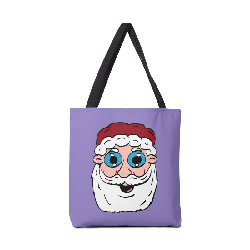 Cartoon Santa Head Accessories Bag by ericallen's Artist Shop