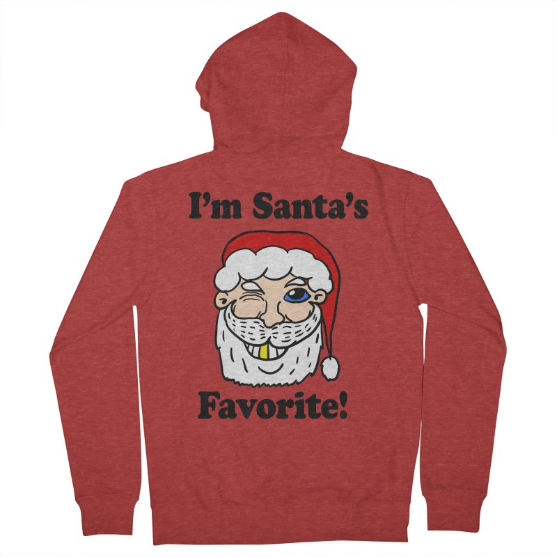 I'm Santa's Favorite Men's French Terry Zip-Up Hoody by ericallen's Artist Shop