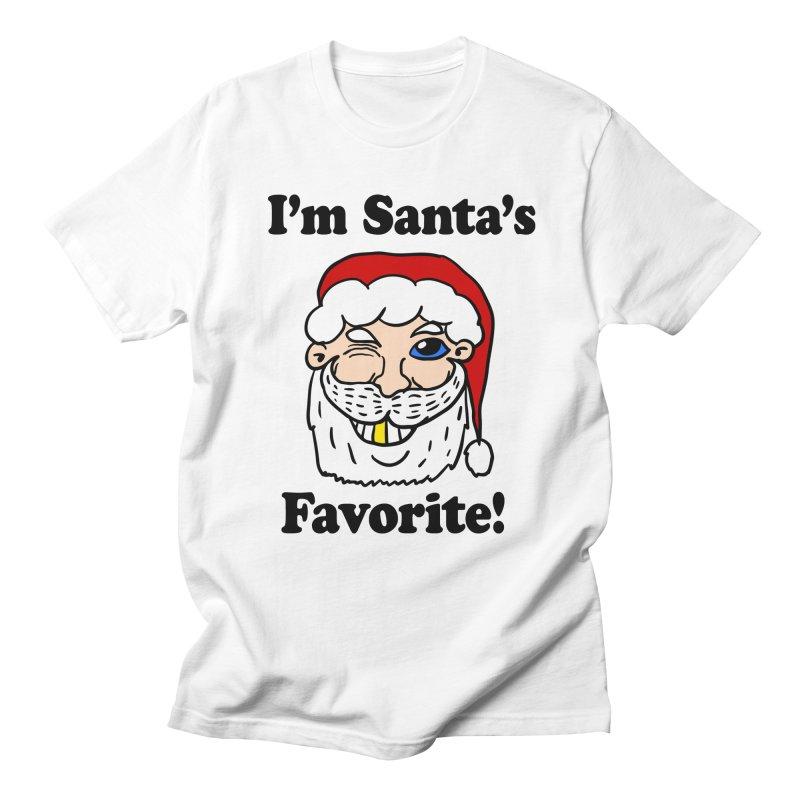 I'm Santa's Favorite Women's Regular Unisex T-Shirt by ericallen's Artist Shop