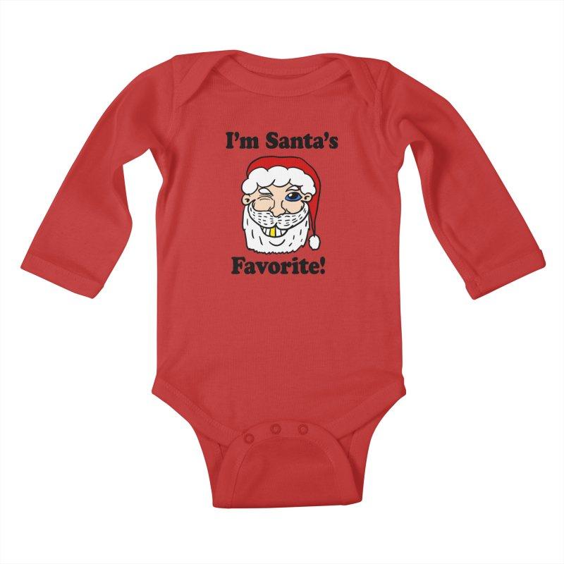 I'm Santa's Favorite Kids Baby Longsleeve Bodysuit by ericallen's Artist Shop
