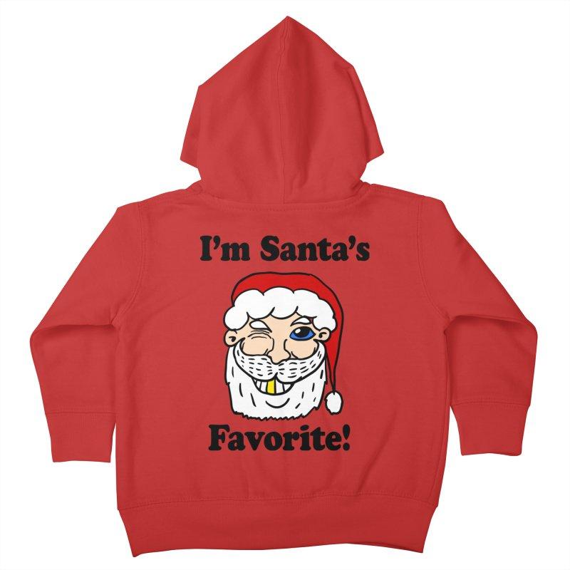 I'm Santa's Favorite Kids Toddler Zip-Up Hoody by ericallen's Artist Shop