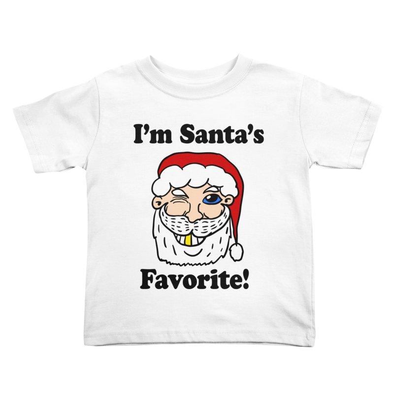 I'm Santa's Favorite Kids Toddler T-Shirt by ericallen's Artist Shop
