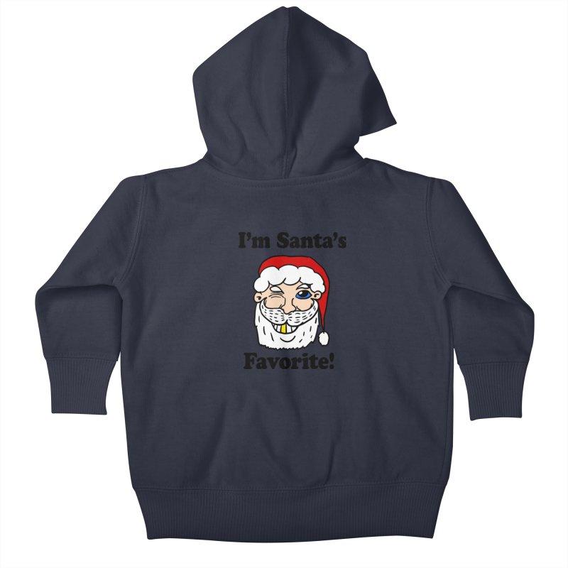 I'm Santa's Favorite Kids Baby Zip-Up Hoody by ericallen's Artist Shop