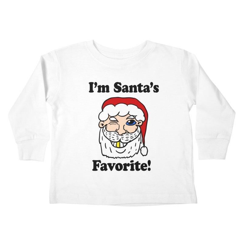 I'm Santa's Favorite Kids Toddler Longsleeve T-Shirt by ericallen's Artist Shop