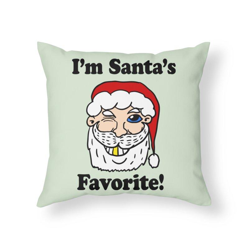 I'm Santa's Favorite Home Throw Pillow by ericallen's Artist Shop