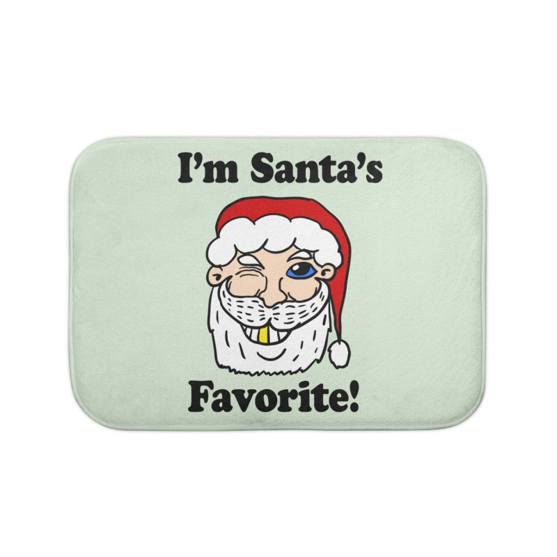 I'm Santa's Favorite Home Bath Mat by ericallen's Artist Shop