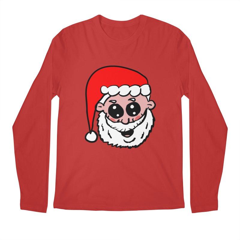 Cute Santa Head Men's Regular Longsleeve T-Shirt by ericallen's Artist Shop