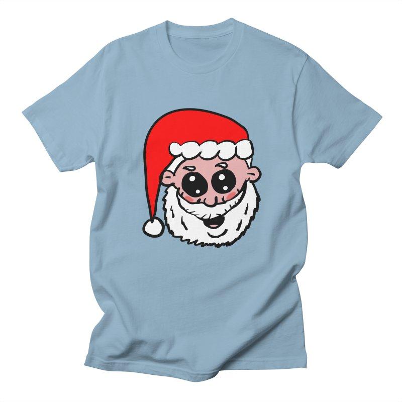 Cute Santa Head Women's Regular Unisex T-Shirt by ericallen's Artist Shop