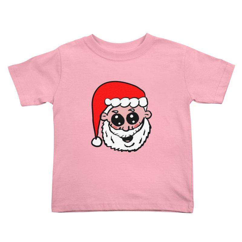 Cute Santa Head Kids Toddler T-Shirt by ericallen's Artist Shop