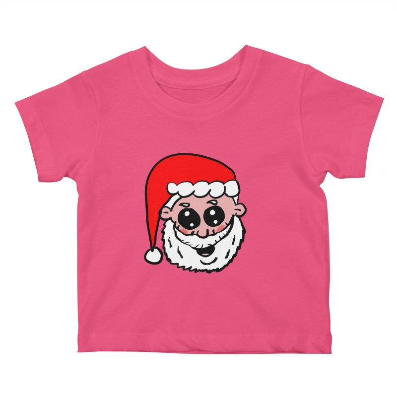 Cute Santa Head Kids Baby T-Shirt by ericallen's Artist Shop
