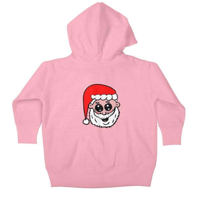 Cute Santa Head Kids Baby Zip-Up Hoody by ericallen's Artist Shop