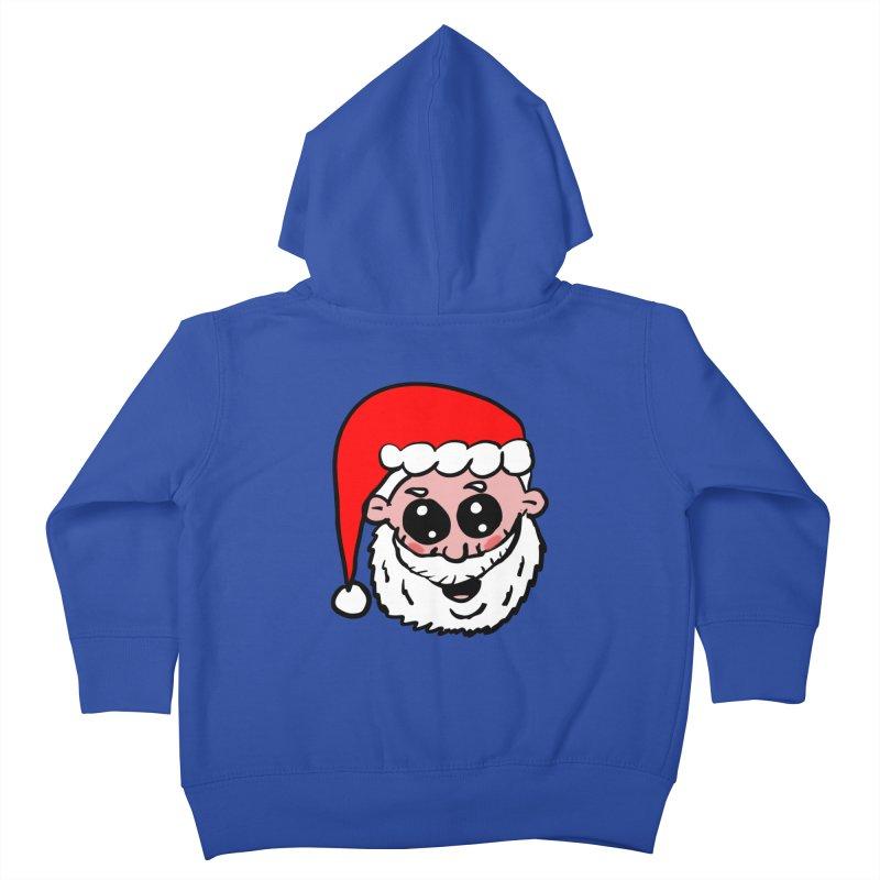 Cute Santa Head Kids Toddler Zip-Up Hoody by ericallen's Artist Shop