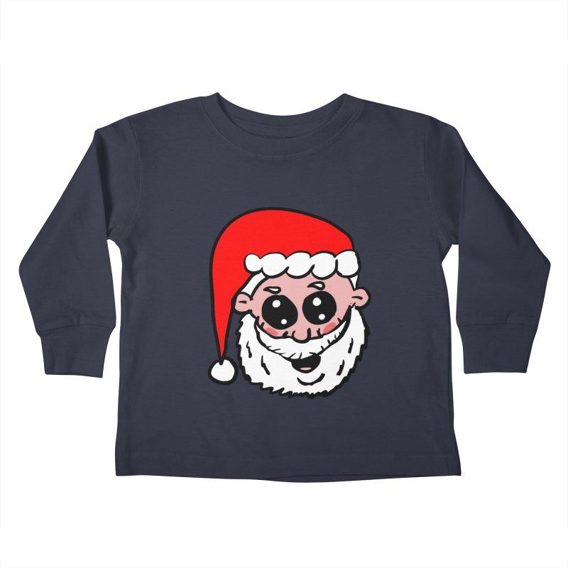 Cute Santa Head Kids Toddler Longsleeve T-Shirt by ericallen's Artist Shop