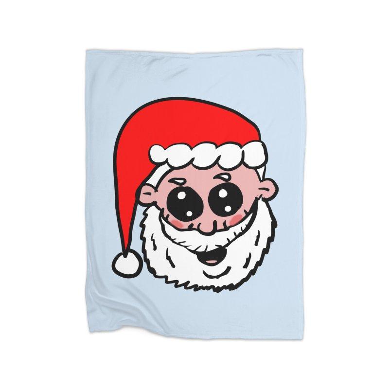 Cute Santa Head Home Blanket by ericallen's Artist Shop