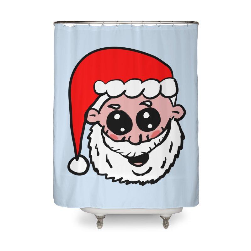 Cute Santa Head Home Shower Curtain by ericallen's Artist Shop