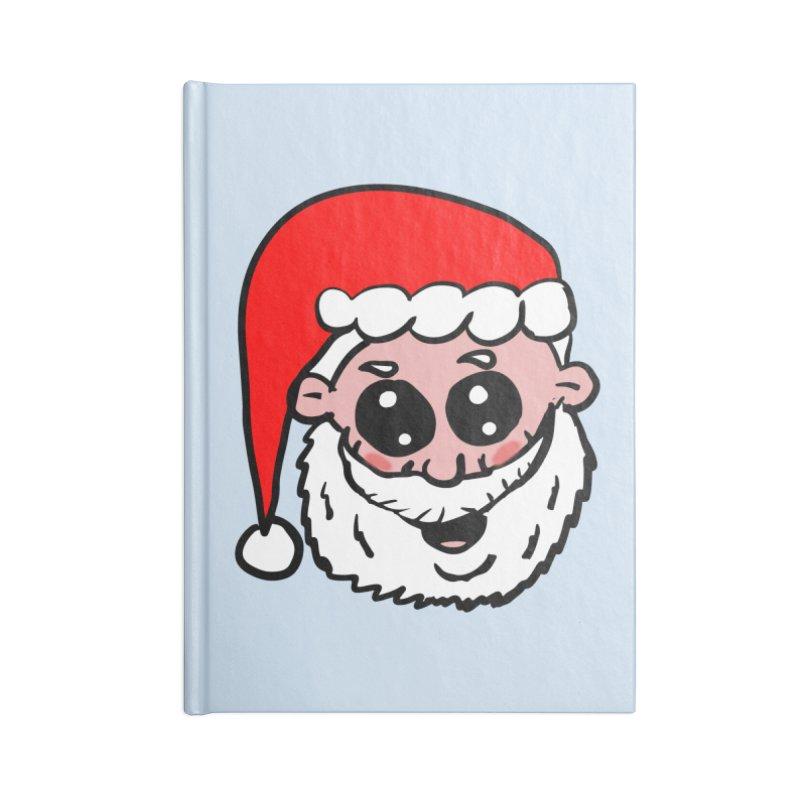 Cute Santa Head Accessories Notebook by ericallen's Artist Shop