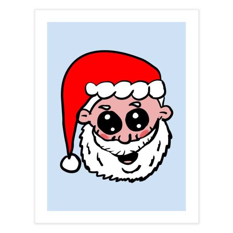 Cute Santa Head Home Fine Art Print by ericallen's Artist Shop