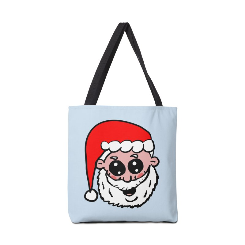 Cute Santa Head Accessories Bag by ericallen's Artist Shop