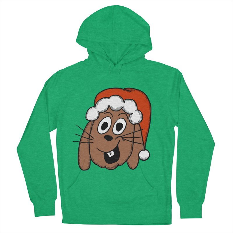 Santa Bunny Women's French Terry Pullover Hoody by ericallen's Artist Shop
