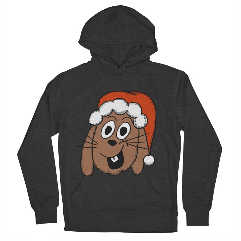 Santa Bunny Men's French Terry Pullover Hoody by ericallen's Artist Shop
