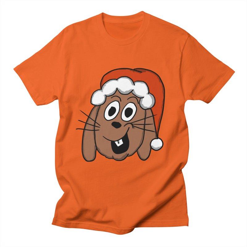 Santa Bunny Women's Regular Unisex T-Shirt by ericallen's Artist Shop