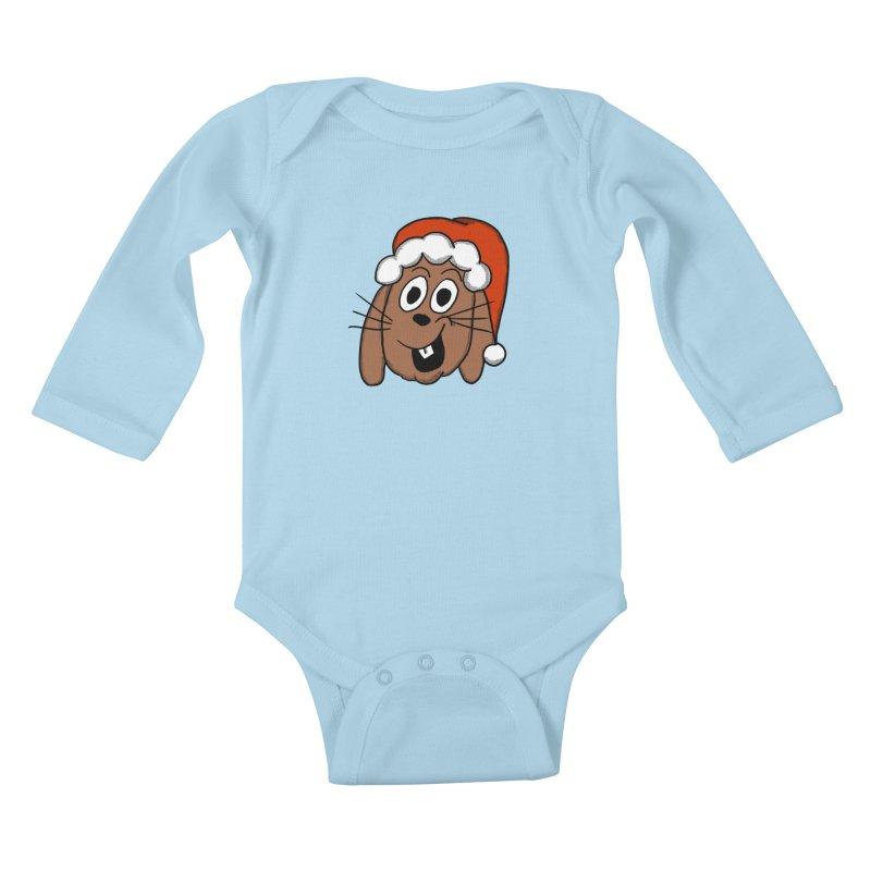 Santa Bunny Kids Baby Longsleeve Bodysuit by ericallen's Artist Shop