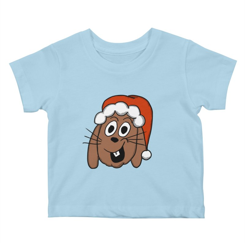 Santa Bunny Kids Baby T-Shirt by ericallen's Artist Shop