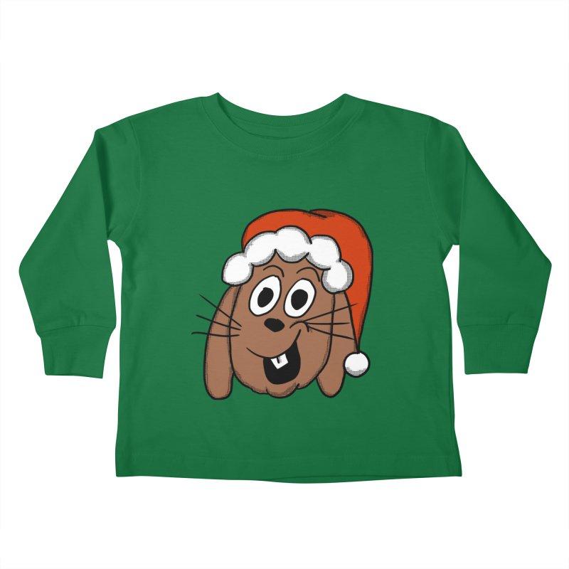 Santa Bunny Kids Toddler Longsleeve T-Shirt by ericallen's Artist Shop