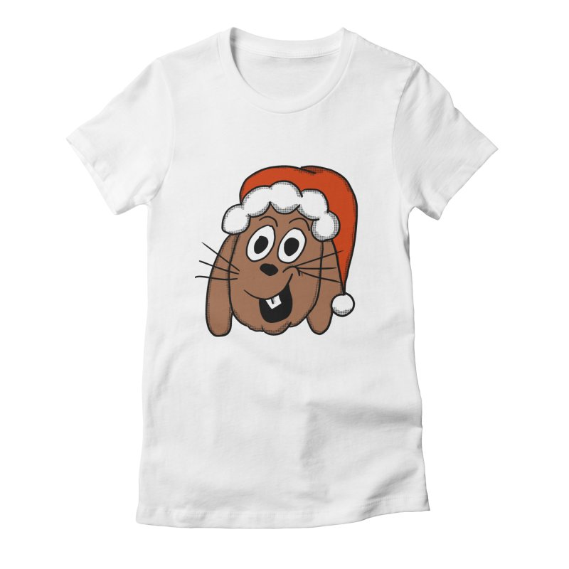 Santa Bunny Women's Fitted T-Shirt by ericallen's Artist Shop