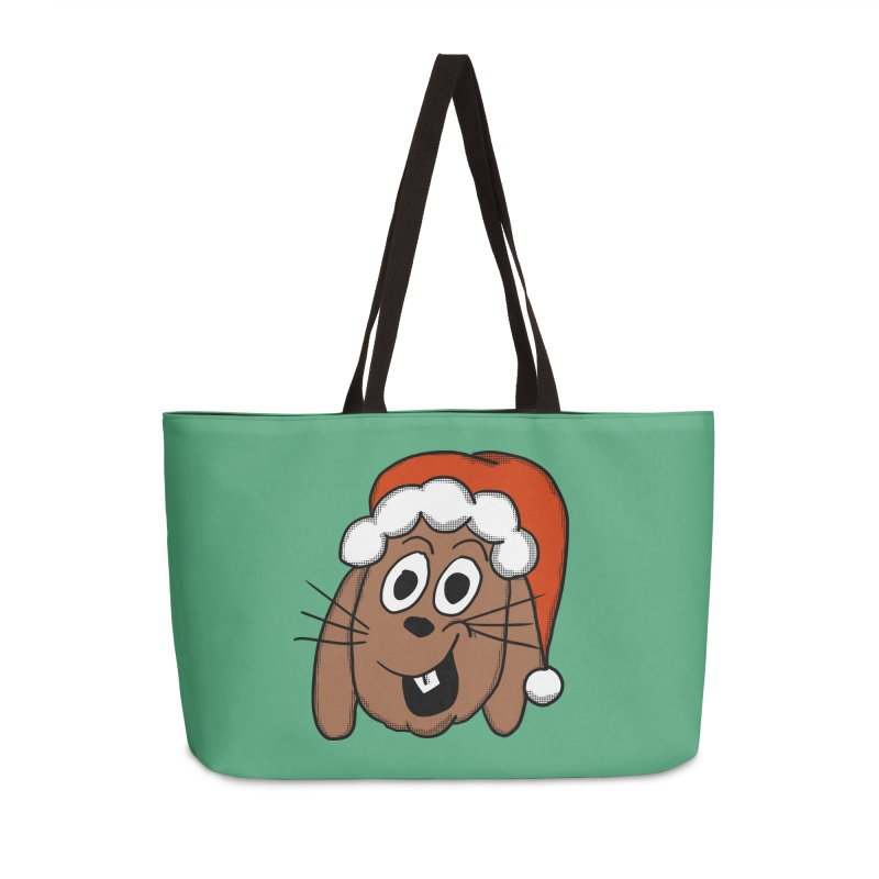 Santa Bunny Accessories Bag by ericallen's Artist Shop