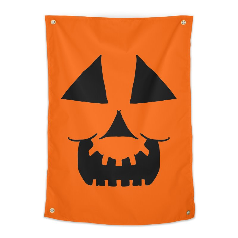 Cartoon Jackolantern face 1 Home Tapestry by ericallen's Artist Shop