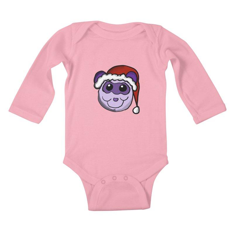 Christmas Panda Kids Baby Longsleeve Bodysuit by ericallen's Artist Shop