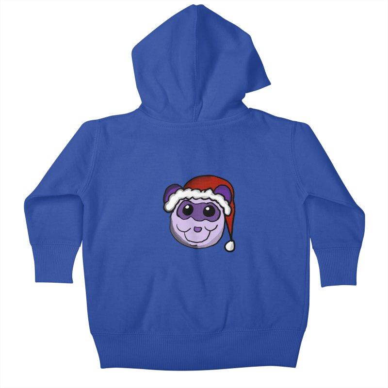 Christmas Panda Kids Baby Zip-Up Hoody by ericallen's Artist Shop