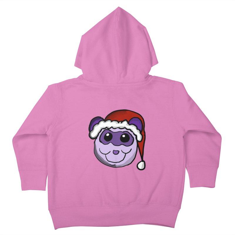 Christmas Panda Kids Toddler Zip-Up Hoody by ericallen's Artist Shop