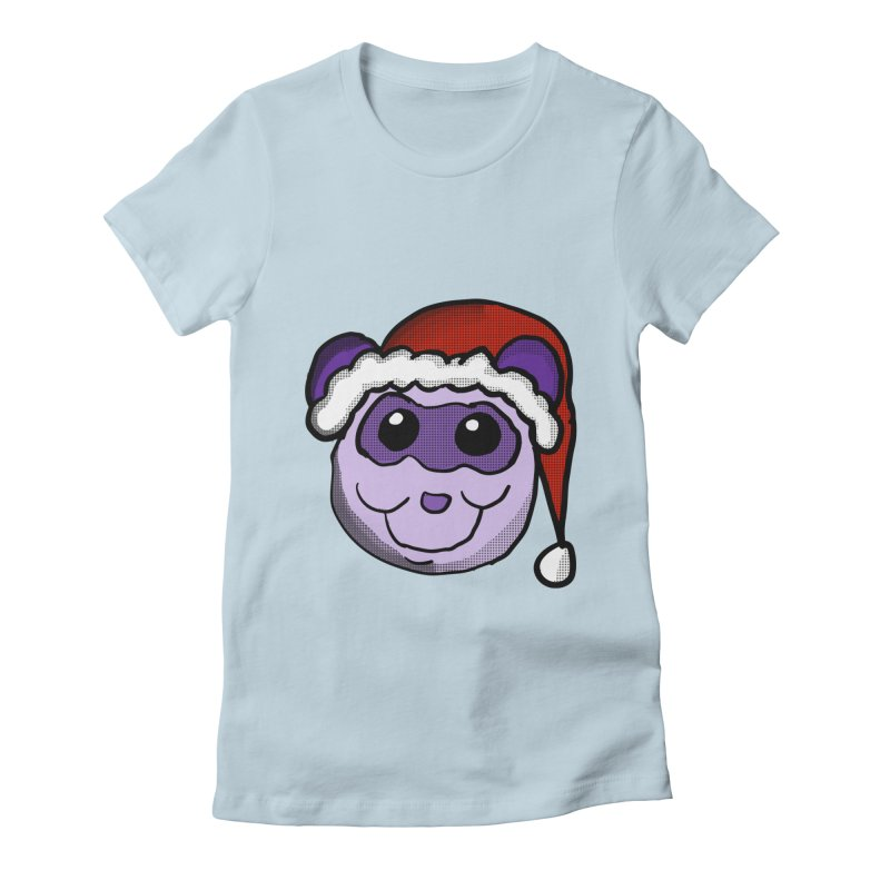 Christmas Panda Women's Fitted T-Shirt by ericallen's Artist Shop