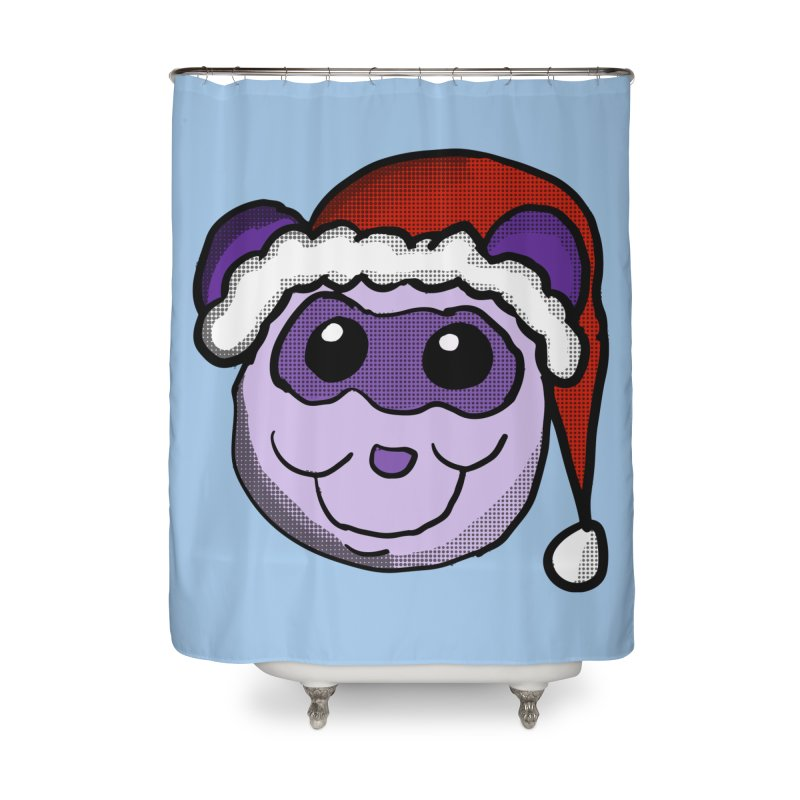 Christmas Panda Home Shower Curtain by ericallen's Artist Shop